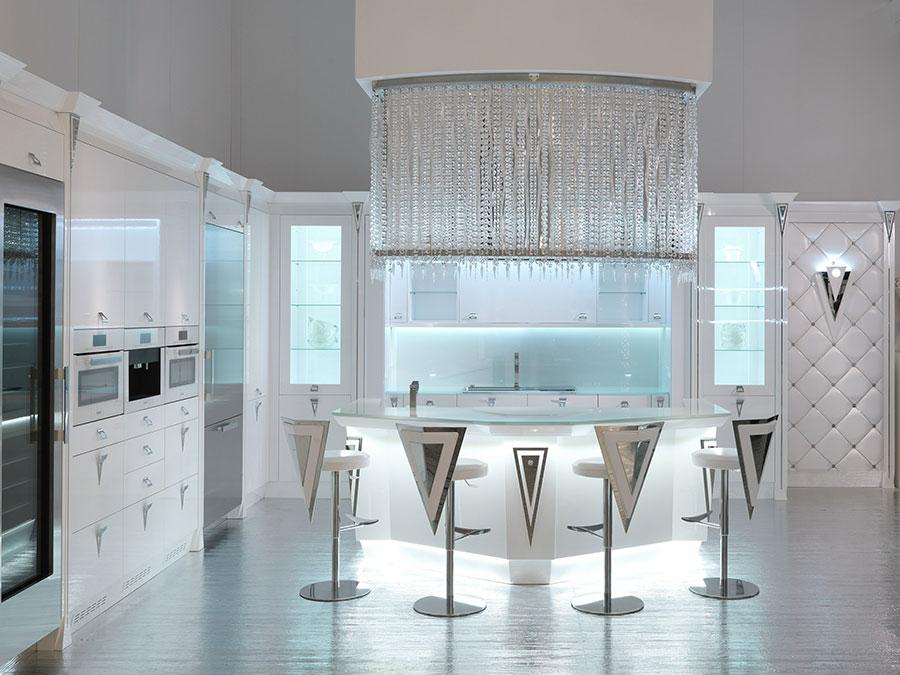 Modello di cucina circolare di design n.14