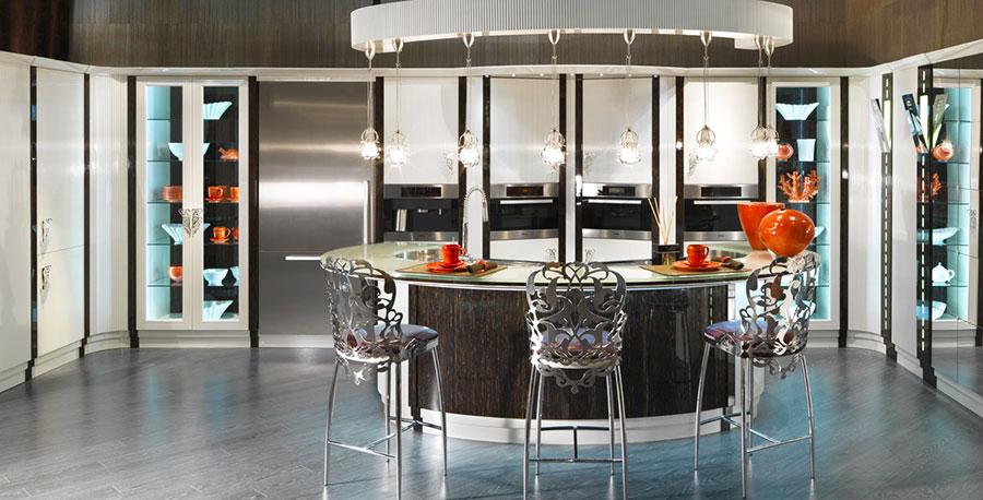 Modello di cucina circolare di design n.15