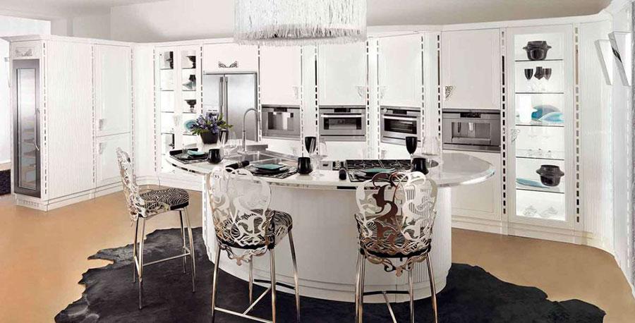 Modello di cucina circolare di design n.16
