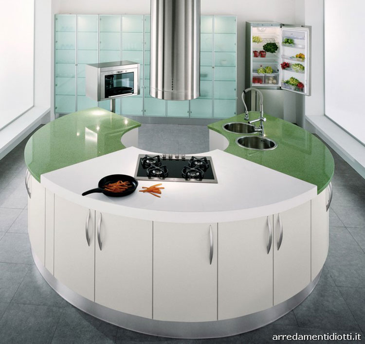 Modello di cucina circolare di design n.17