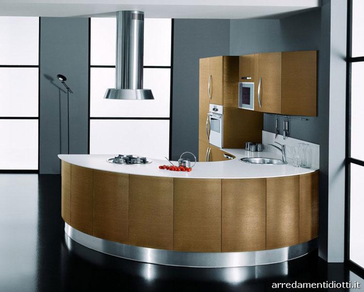 Modello di cucina circolare di design n.18