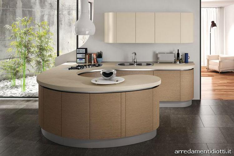Modello di cucina circolare di design n.19
