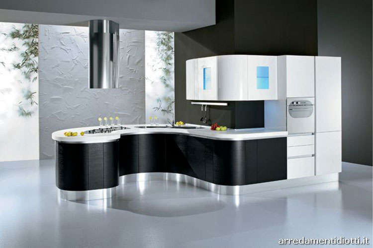 Modello di cucina circolare di design n.20