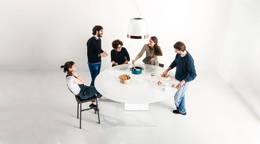 Modello di cucina circolare di design n.21