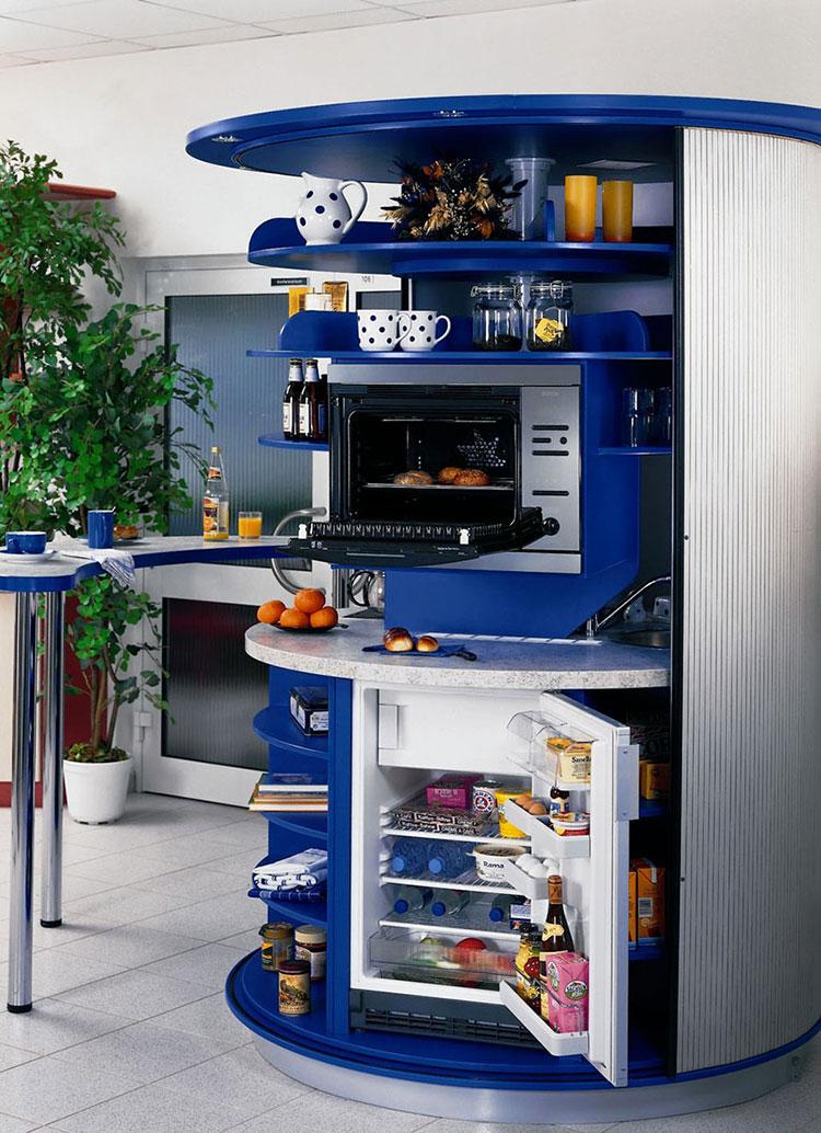 Modello di cucina circolare di design n.22