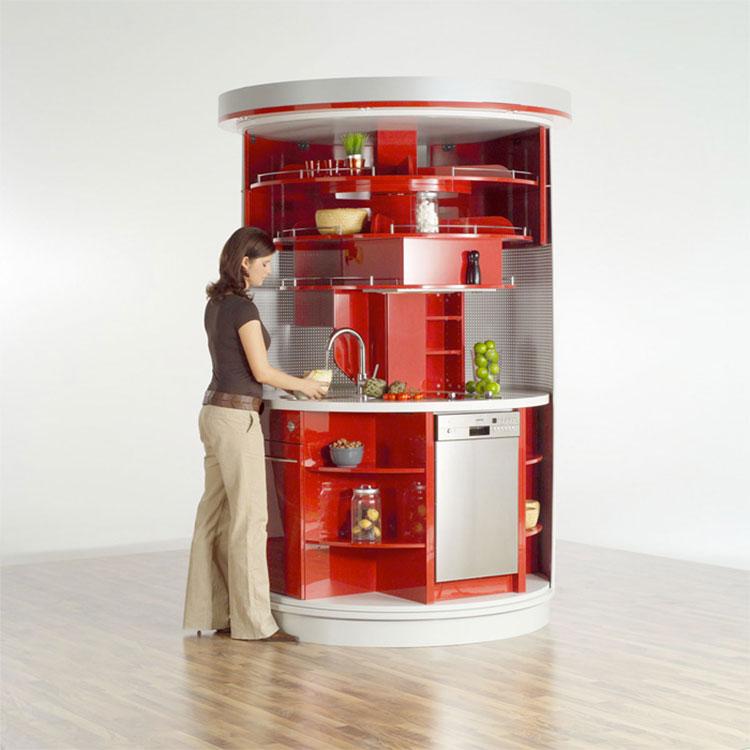 Modello di cucina circolare di design n.23