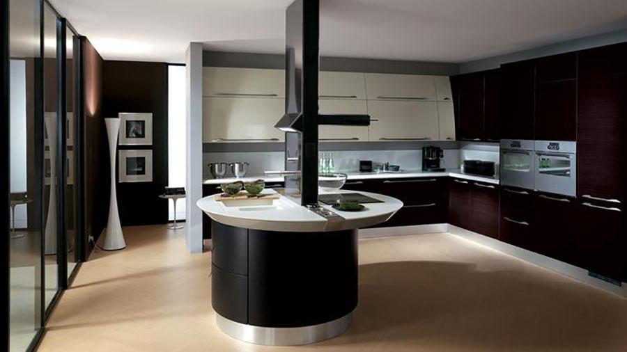 Modello di cucina circolare di design n.24
