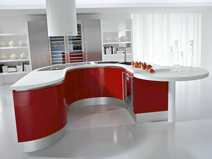 Modello di cucina circolare di design n.25