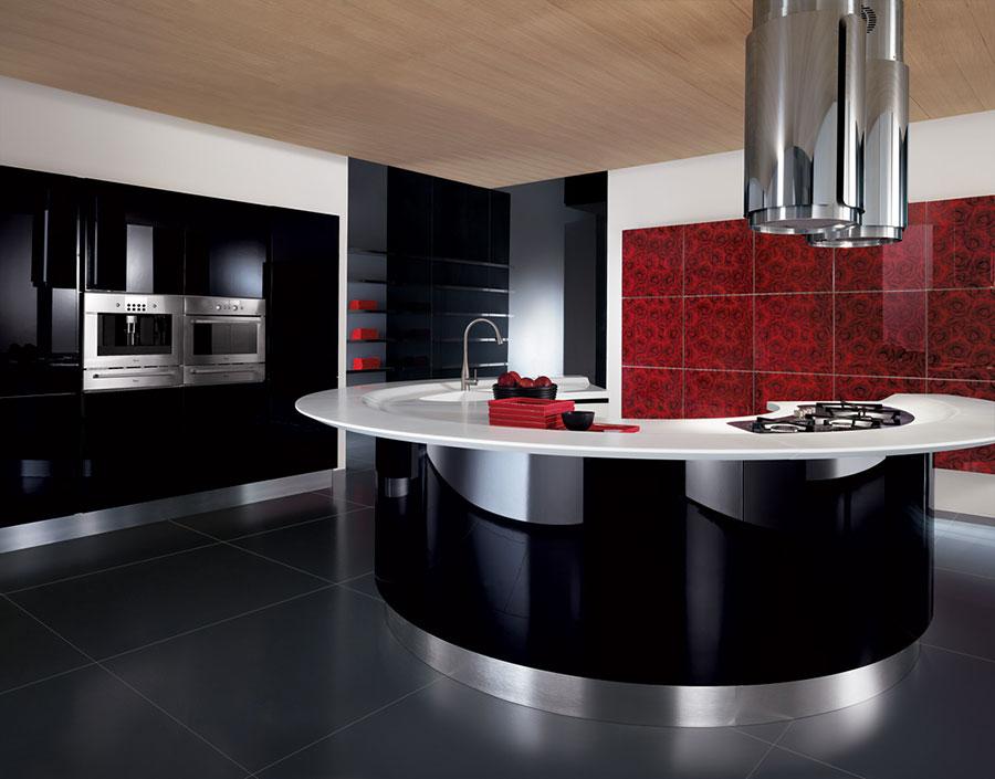 Modello di cucina circolare di design n.26