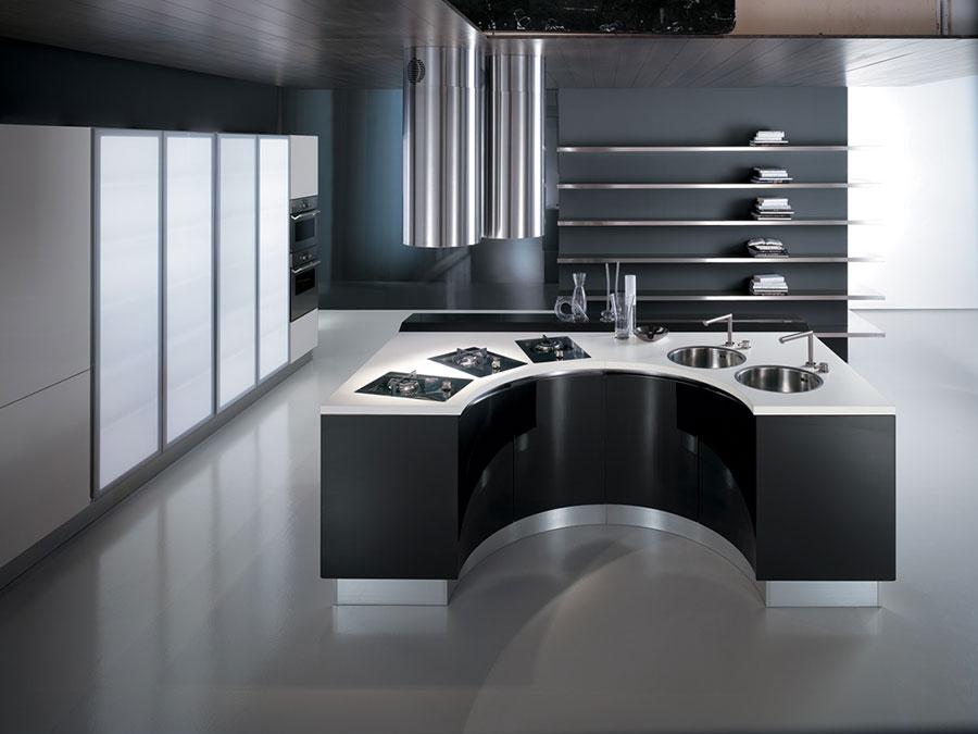 Modello di cucina circolare di design n.27