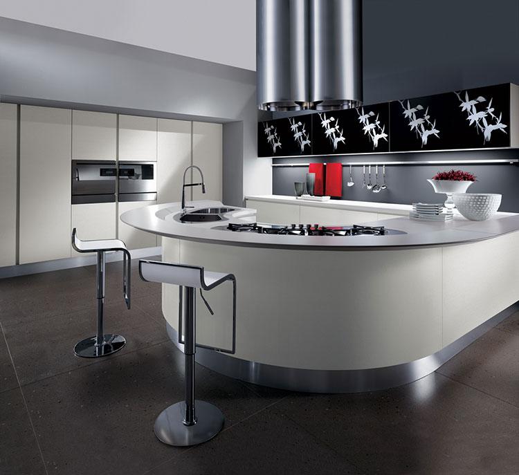 Modello di cucina circolare di design n.28