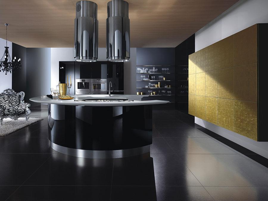 Modello di cucina circolare di design n.29