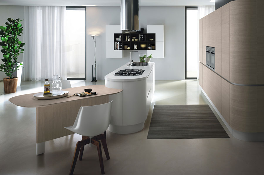 Modello di cucina circolare di design n.30