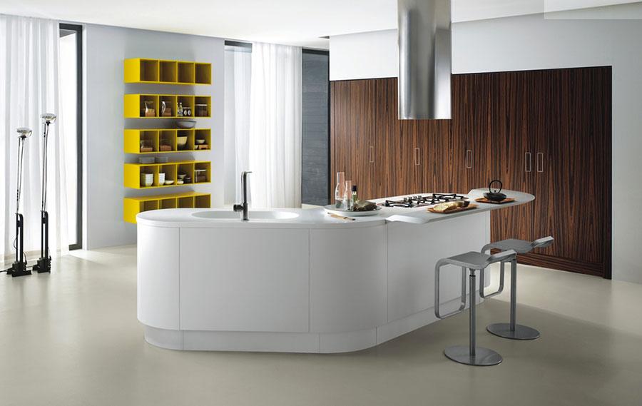 Modello di cucina circolare di design n.31