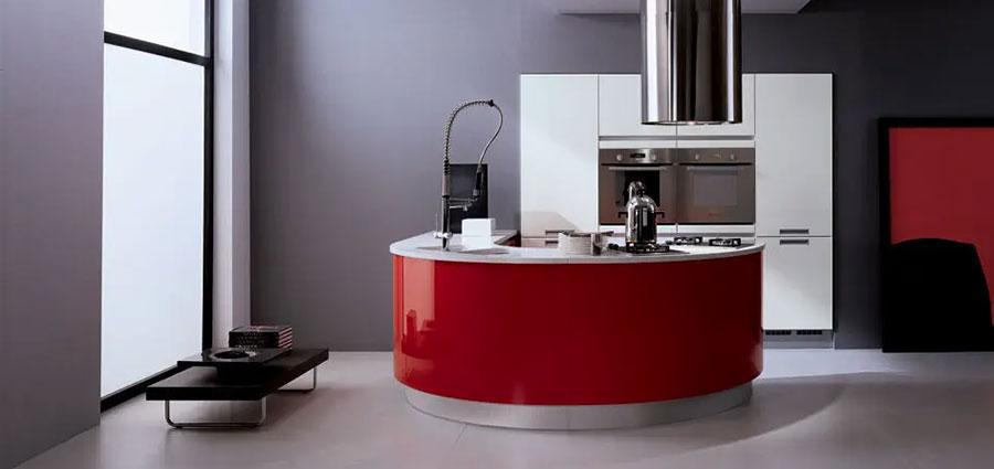 Modello di cucina circolare di design n.32