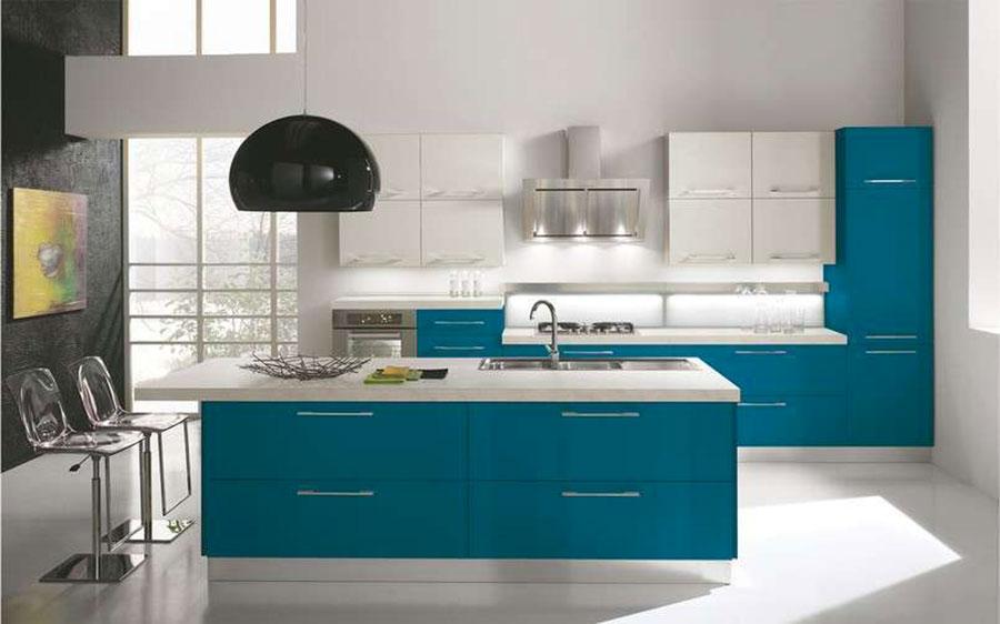 Cucina Verde Petrolio 20 Modelli Di Design A Cui Ispirarsi