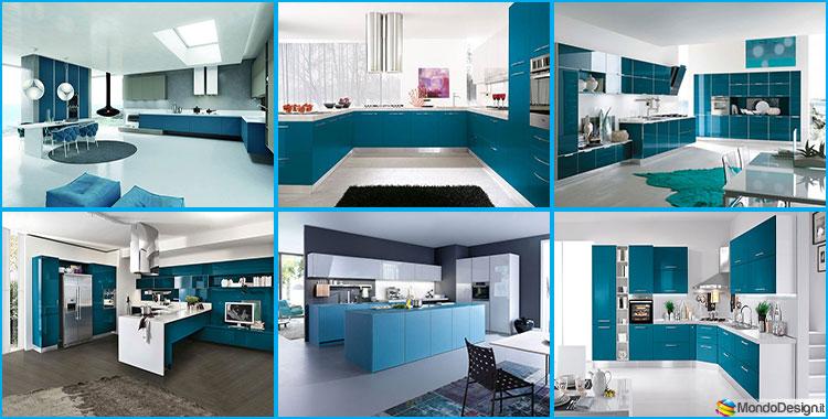 Cucina verde petrolio 20 modelli di design a cui for Aziende cucine design
