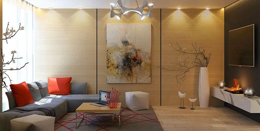 Pareti in legno moderne