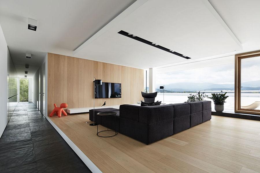 Interni di lusso 5 progetti di arredo moderno in bianco e for Interni e design