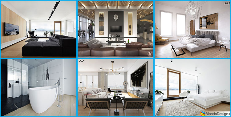 Interni di lusso 5 progetti di arredo moderno in bianco e for Disegni di lusso di una storia a casa