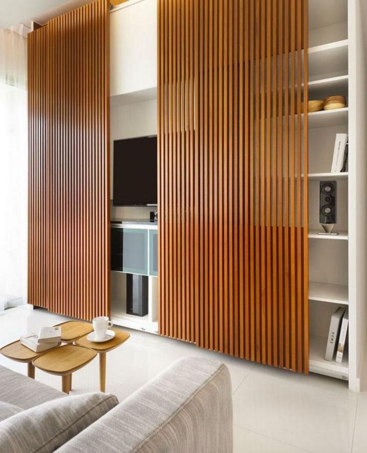 Idea per la creazione di una parete in legno dal design originale n.01