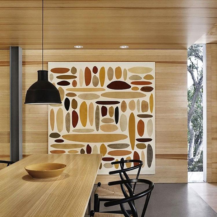 Idea per la creazione di una parete in legno dal design originale n.08