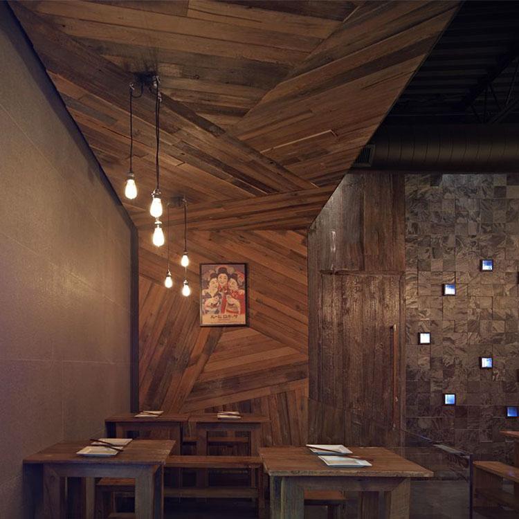 Idea per la creazione di una parete in legno dal design originale n.09