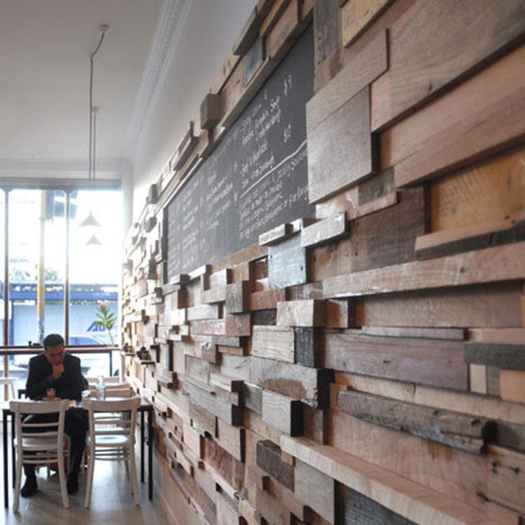 Idea per la creazione di una parete in legno dal design originale n.10