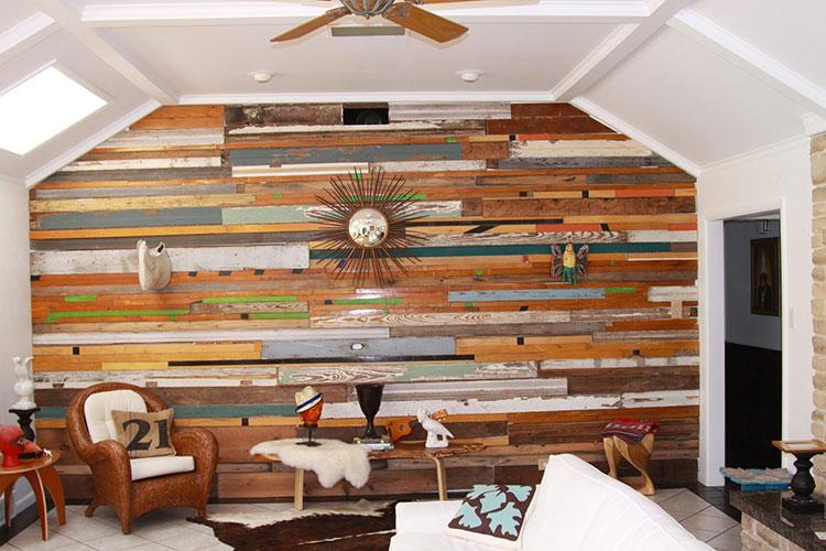 Idea per la creazione di una parete in legno dal design originale n.11