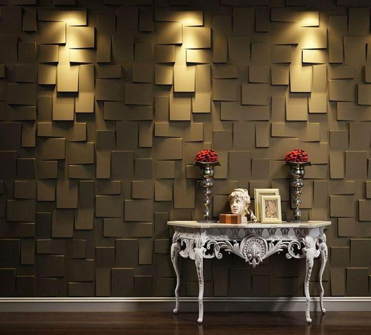 Idea per la creazione di una parete in legno dal design originale n.12