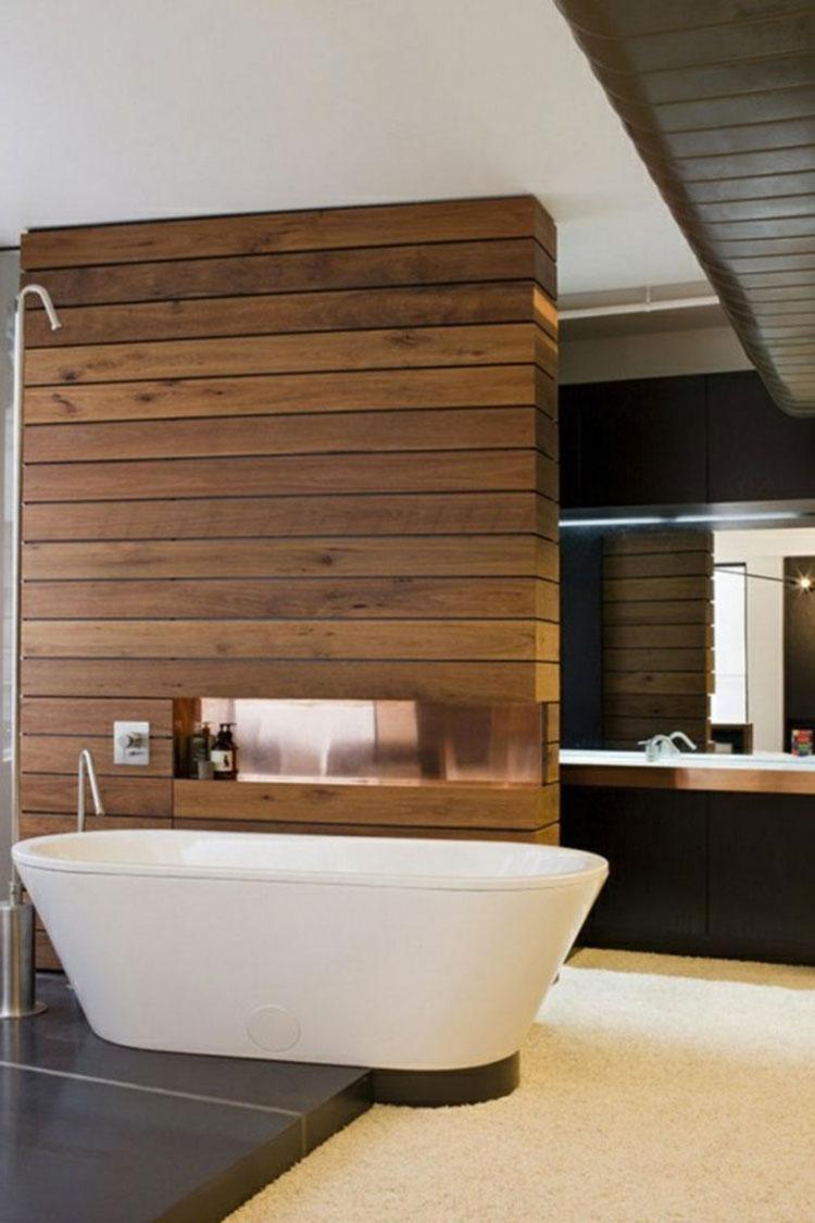 Idea per la creazione di una parete in legno dal design originale n.13