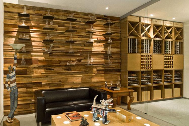 Idea per la creazione di una parete in legno dal design originale n.14