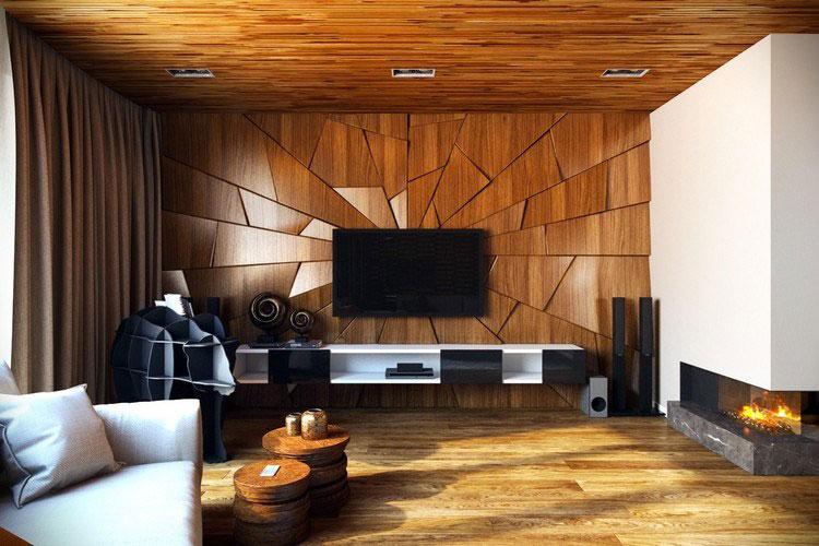 Idea per la creazione di una parete in legno dal design originale n.17