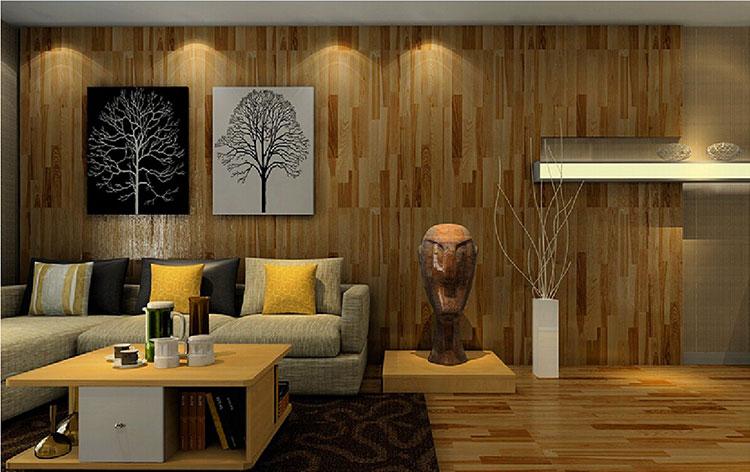 Idea per la creazione di una parete in legno dal design originale n.18