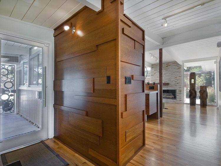 Idea per la creazione di una parete in legno dal design originale n.19