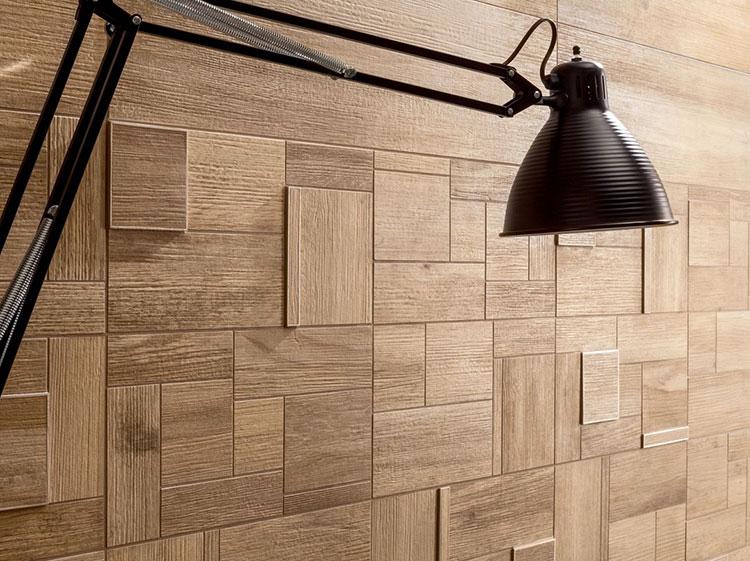 Idea per la creazione di una parete in legno dal design originale n.20