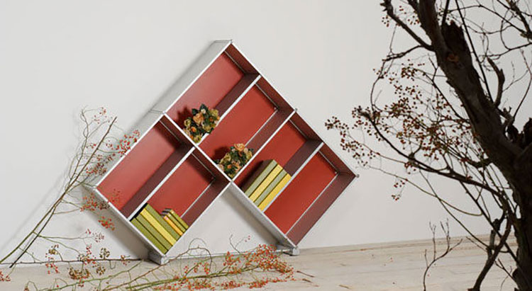 Piccola libreria dal design moderno n.18