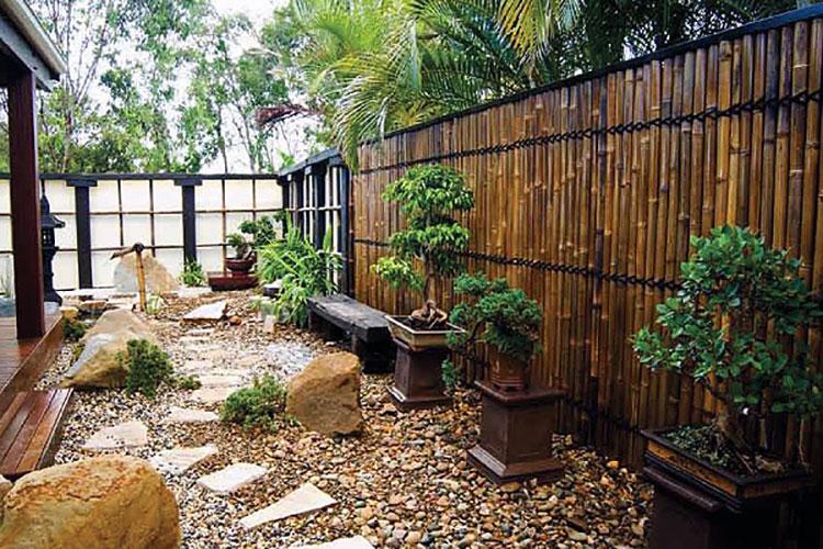 Recinzione in bambù di design n.01