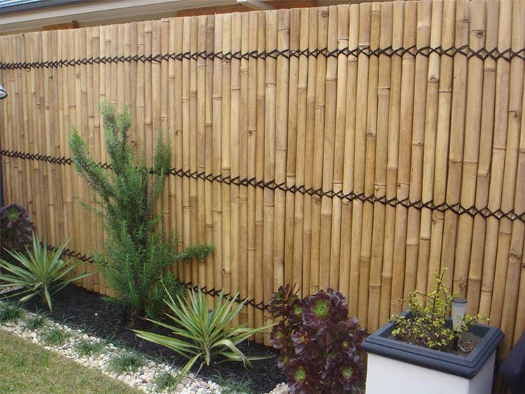 Recinzione in bambù di design n.02