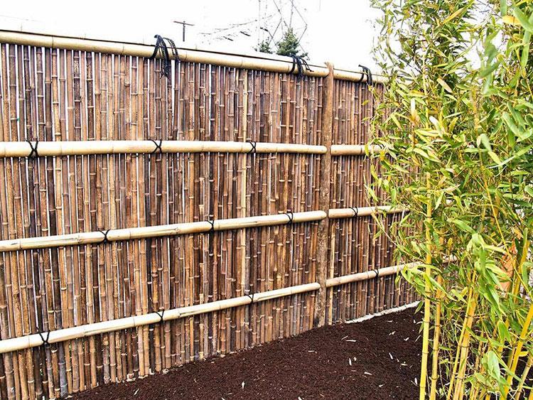 Recinzione in bambù di design n.03