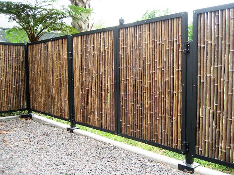 Recinzione in bambù di design n.04