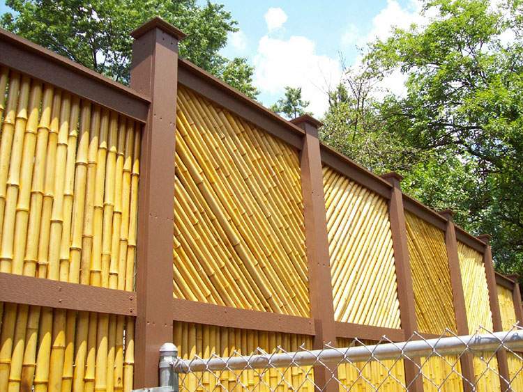 Recinzione in bambù di design n.05