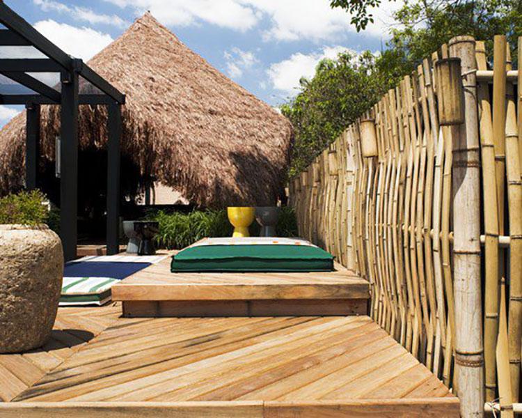 Recinzione in bambù di design n.07