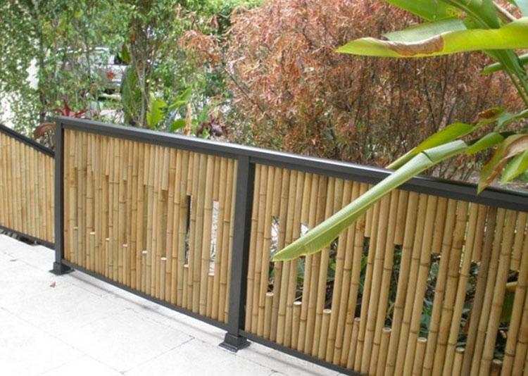 Recinzione in bambù di design n.08