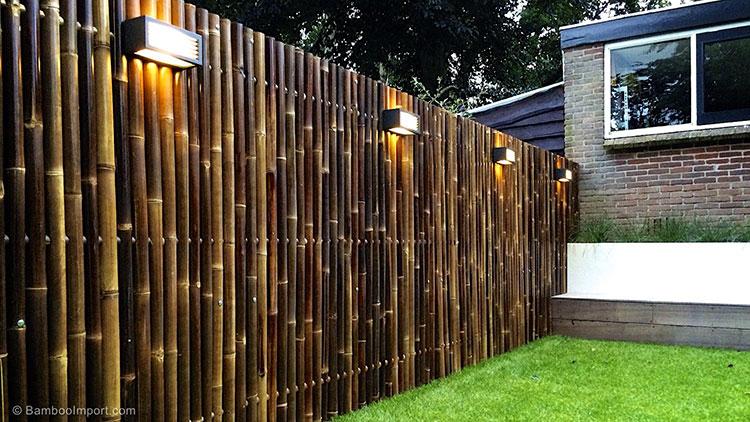 Recinzione in bambù di design n.09