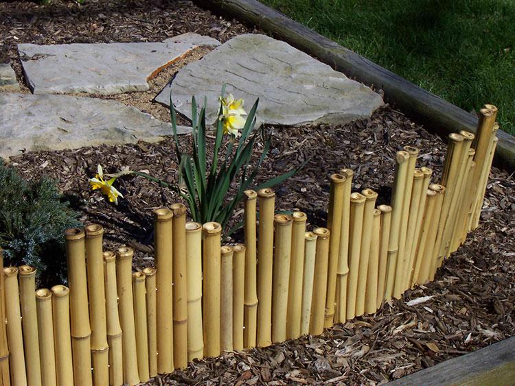 Recinzione in bambù di design n.10
