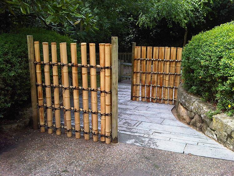 Recinzione in bambù di design n.11