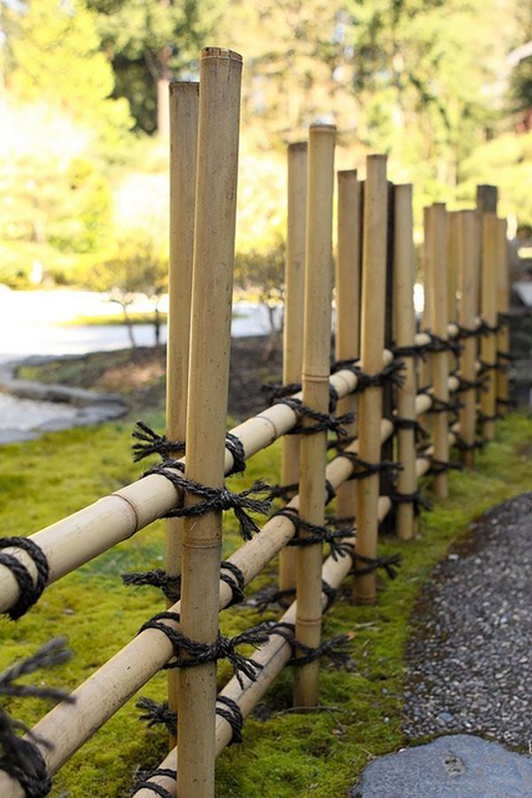 Japanese Garden Fence Design