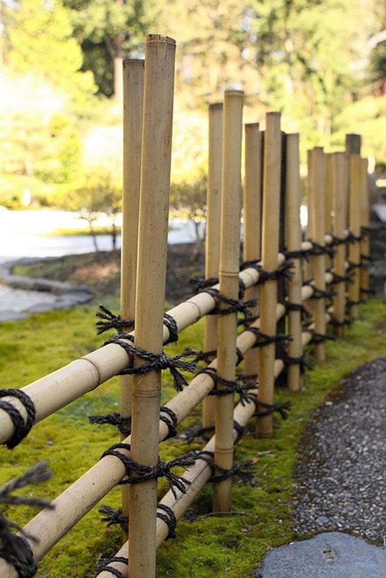 Recinzione in bambù di design n.12