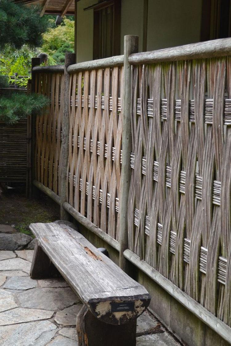 Recinzione in bambù di design n.13